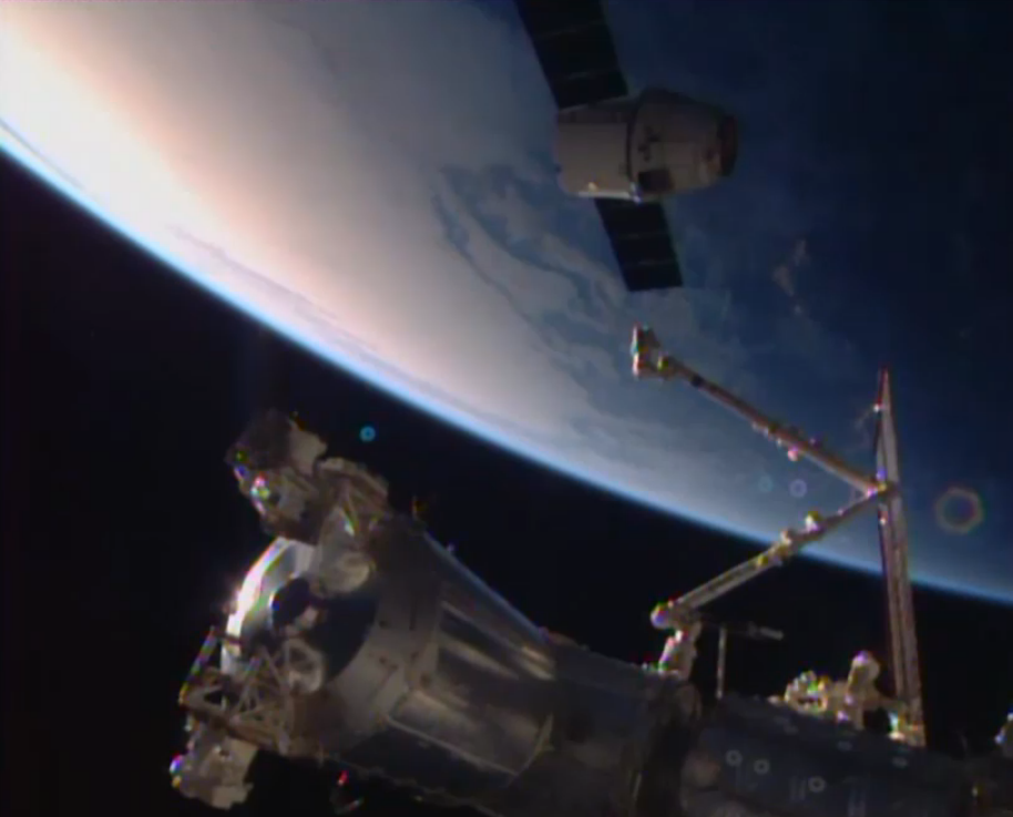 SpaceX's Dragon Module separated from the International Space Station (ISS) - Image credit: NASA/JPL