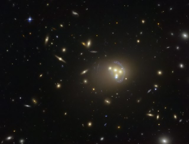 A wider view of Abell 3827, as taken by Hubble. ESO
