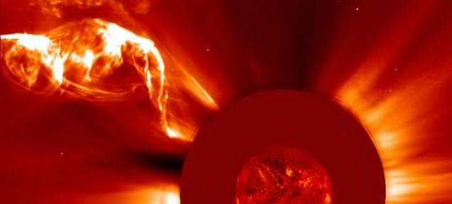 Image by ESA/NASA/SOHO