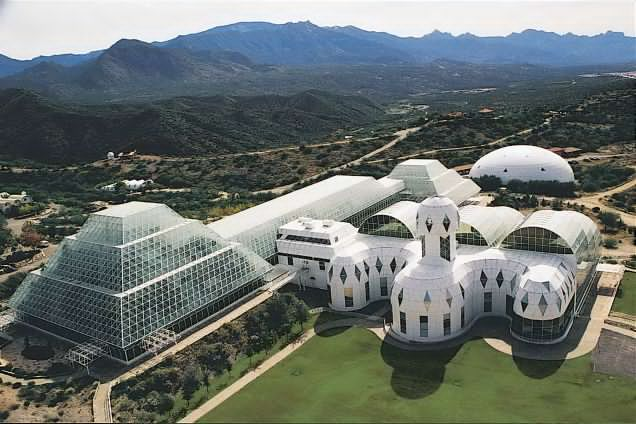 The Biosphere 2 complex.