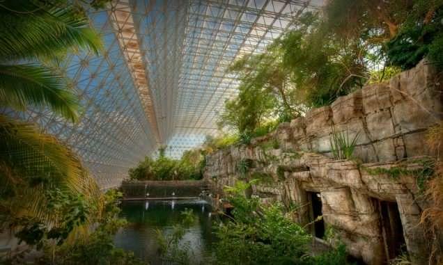 Inside Biosphere 2's ocean environment.