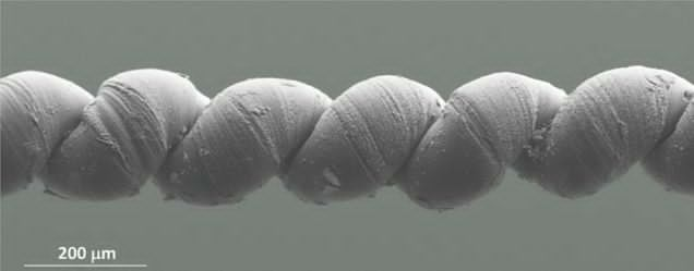 Artificial muscles made from carbon nanotube yarns (credit: University of Texas at Dallas)