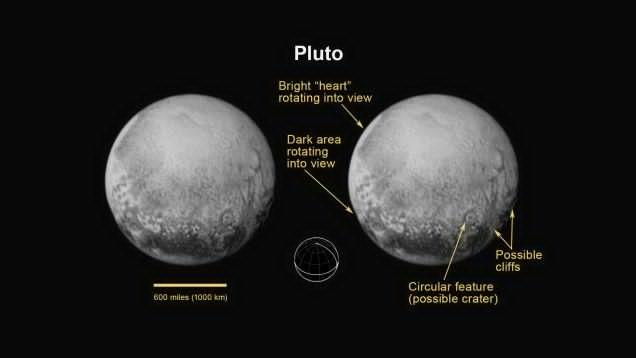 Pluto as seen by New Horizons on July 11, 2015. Image credit: NASA/JHUAPL/SWRI