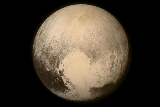 A NASA image from July 13, 2015 shows Pluto from NASA's New Horizons spacecraft just before making it's closest approach to Pluto on July 14. The spacecraft has traveled 3 billion miles since launch on January 19, 2006. NASA/APL/SwRI/UPI