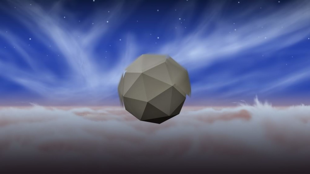 Artist's impression of a probe floating in the skies above Jupiter (Credit: NASA, JPL-Caltech)