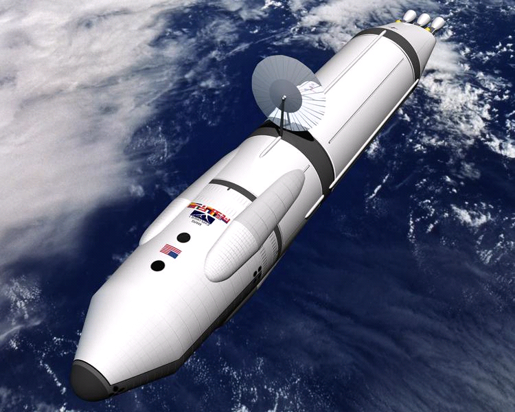Artist's Interpretation of a Deep Space Spacecraft