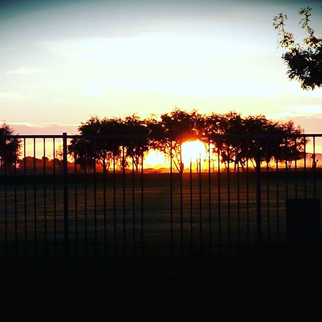 Early morning soccer game... On the field before the sun...