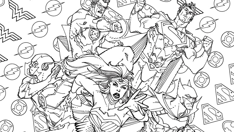 io9 dc comics wants you to color in its new comic covers geek matterscom - Color In Images