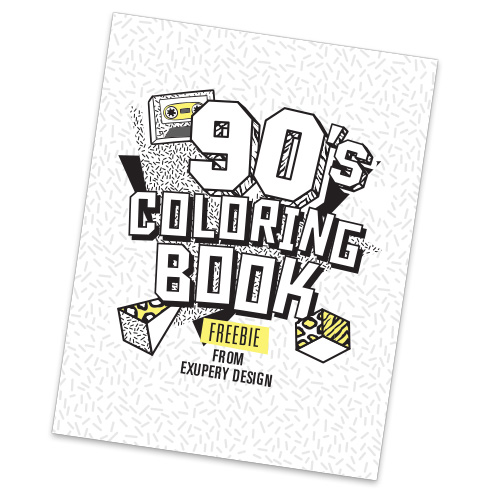 FREE 90s COLORING BOOK! -