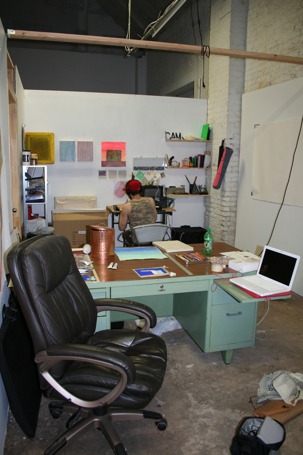 A peek into one of the artist's studio.