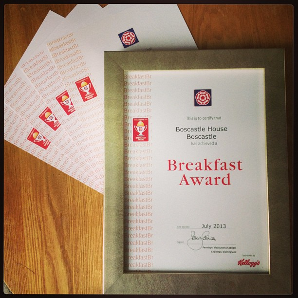 Just updating our breakfast award for 2013 :-) #yay
