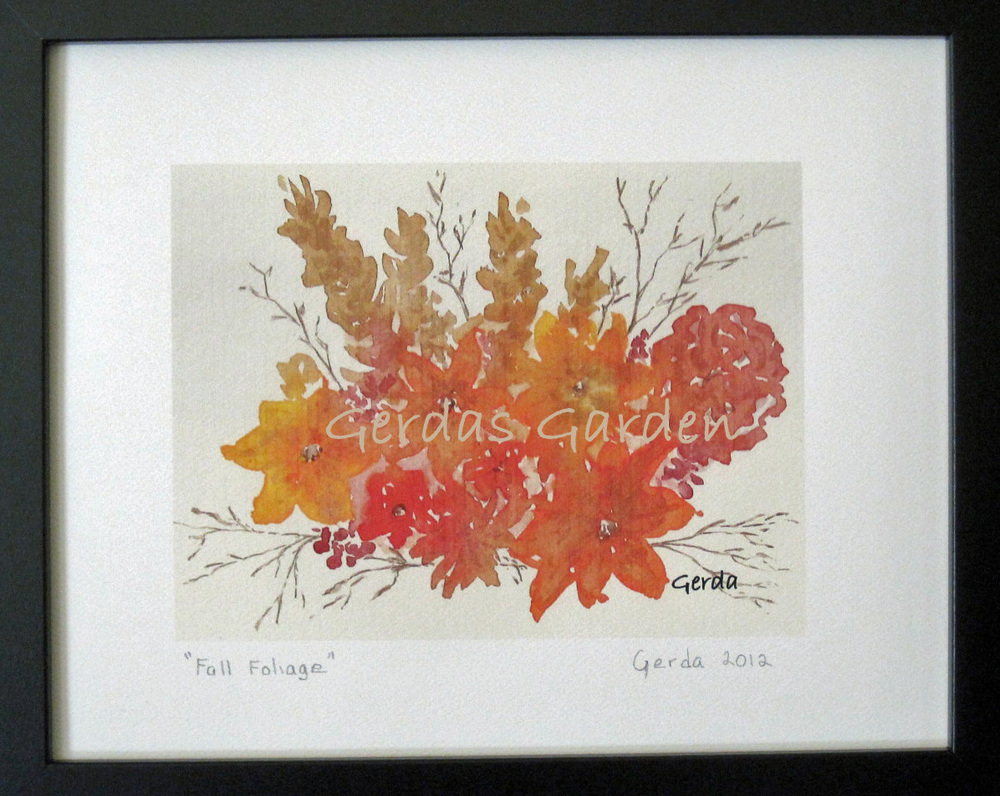 """Fall Foliage"" Watercolor on paper."