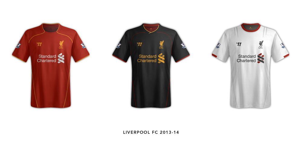Liverpool FC Warrior Kit 2013-14