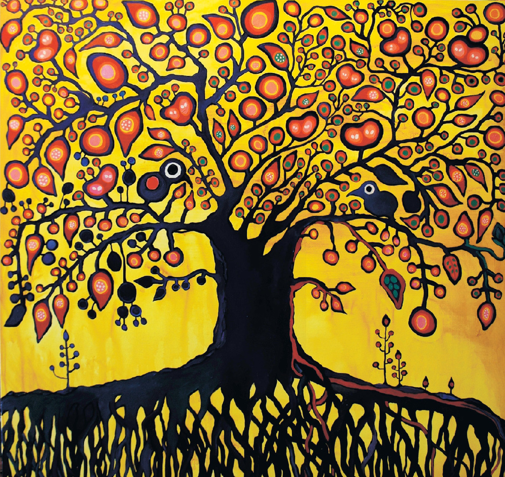 And then there was you /study Norval Morrisseau (60x60) acrylic on canvas 2012