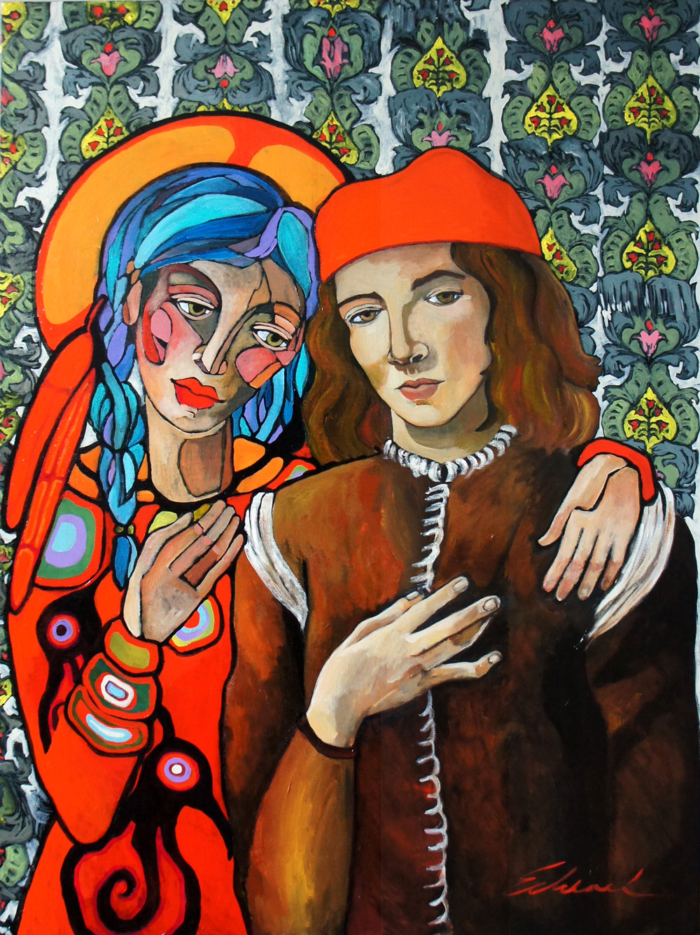 Cultural Exchange: Native Boticelli (60x40) 2012