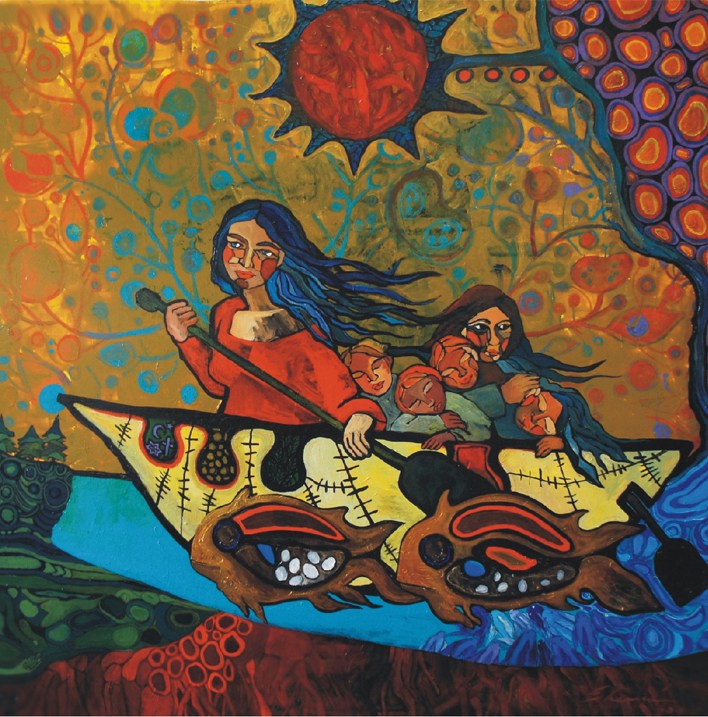 Hope / a study of Migration by Norval Morrisseau (60x60) acrylic on canvas 2012