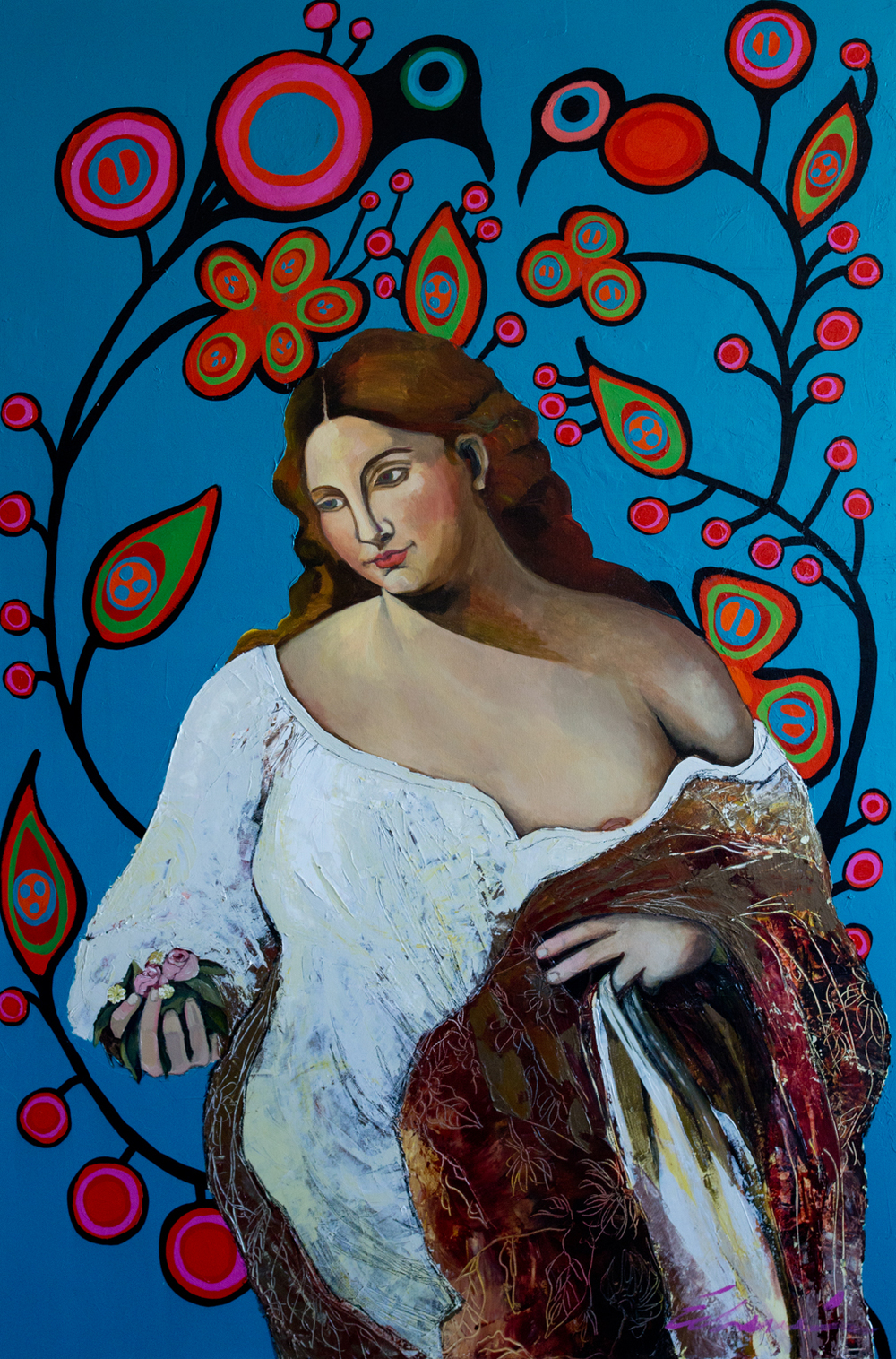 Cultural Exchange: Renaissance Beauty (60x40) acrylic on canvas 2013