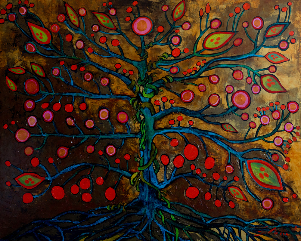 Native Kabalah (48x60) acrylic on canvas  2011