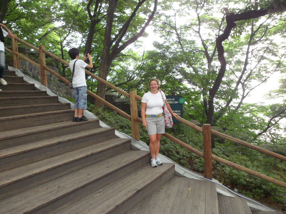 Stairs up to N Seoul Tower