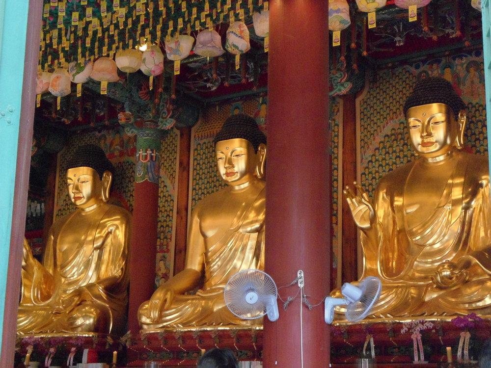 Golden Buddha in Jogyesa Temple Seoul