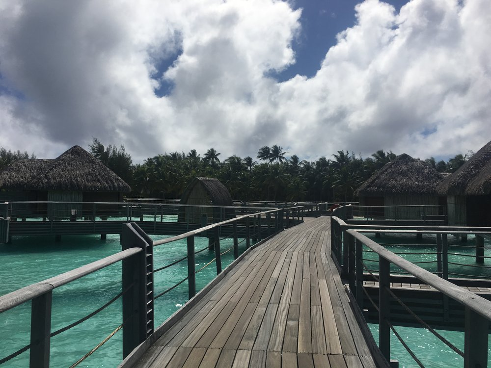 Overwater Bungalows at Four Seasons Bora Bora