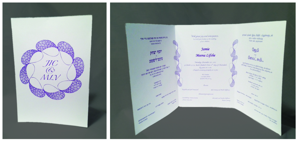 Trilingual Wedding Invitation
