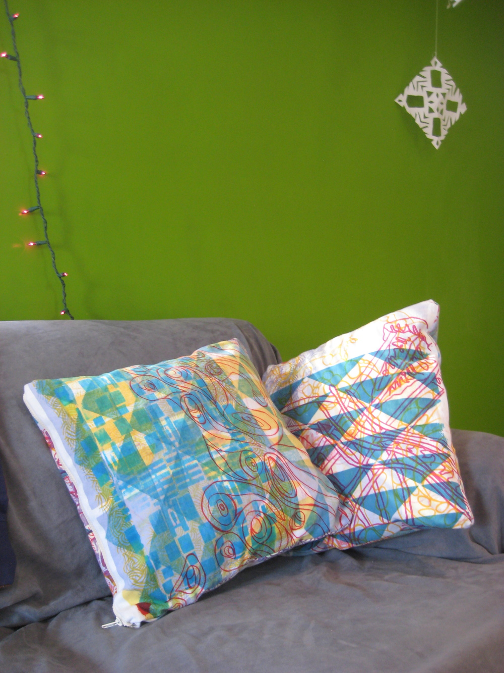 Drop Cloth inspired Pillows