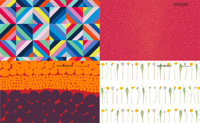 An assortment of free downloadable desktop wallpaper from Marimekko.