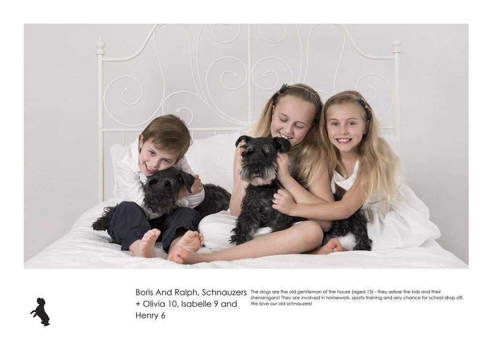 D6117-Boris And Ralph, Schnauzers + Olivia 10, Isabelle 9 and Henry 6.jpg