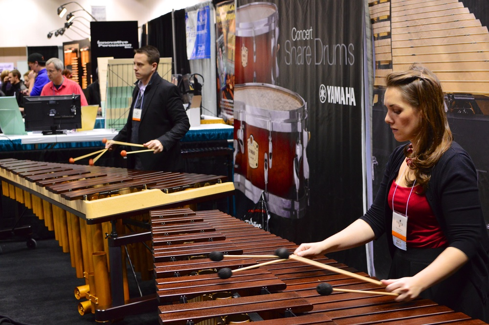 2013-11-15 01-09-32 PASIC Practicing at Yamaha Booth 1.jpg