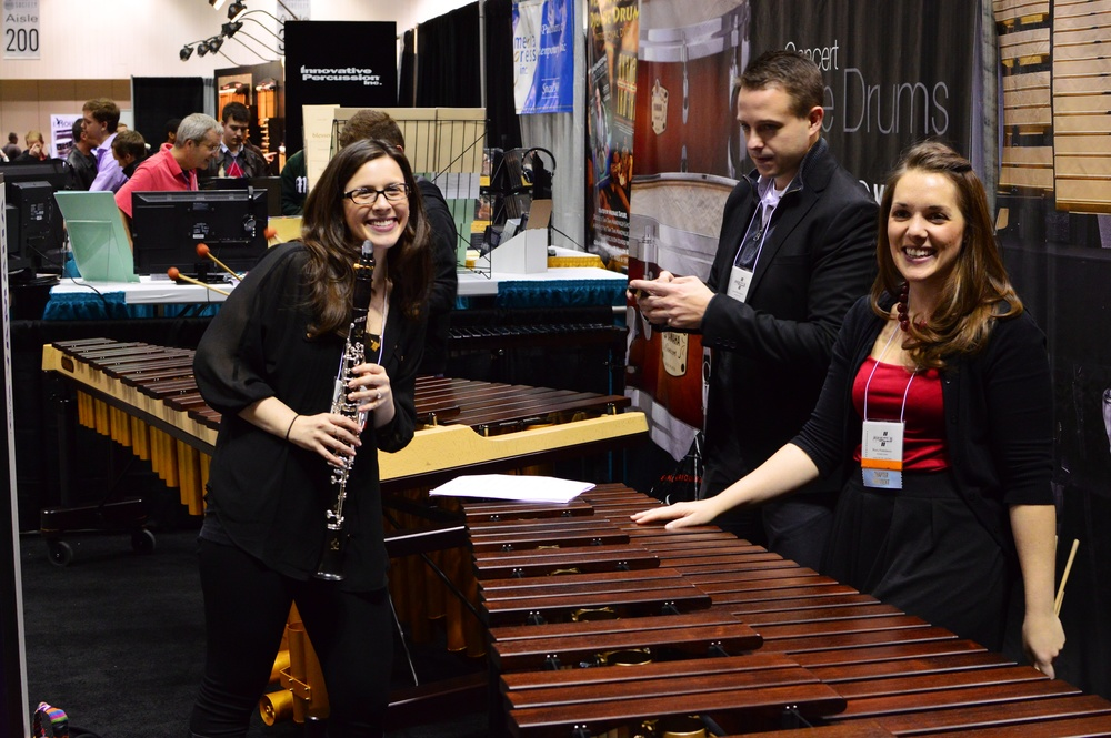 2013-11-15 01-12-25 PASIC Practicing at Yamaha Booth 3.jpg