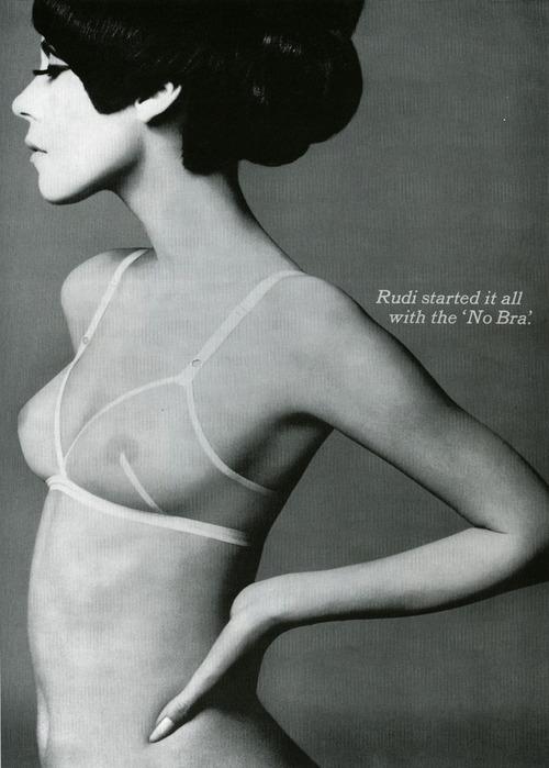 Rudi Gernreich's 'No-Bra' ad, 1964