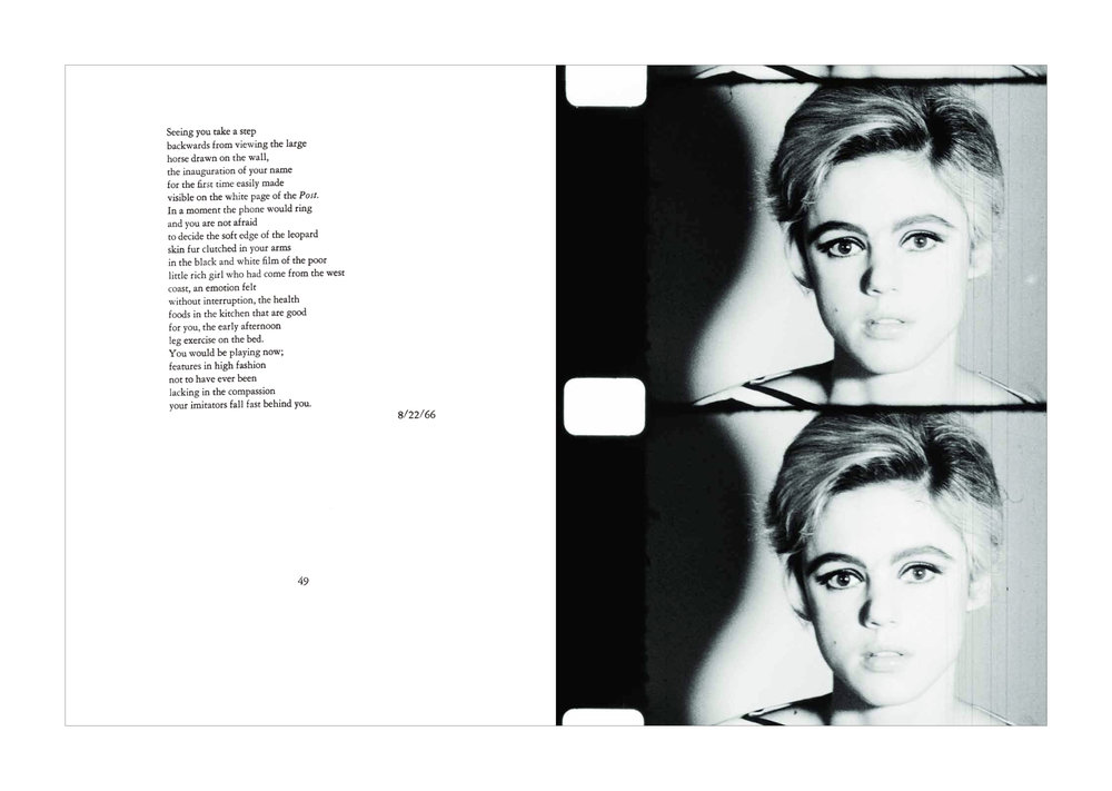 Edie Sedgwick from [Screen Tests / A Diary]   © Gerard Malanga
