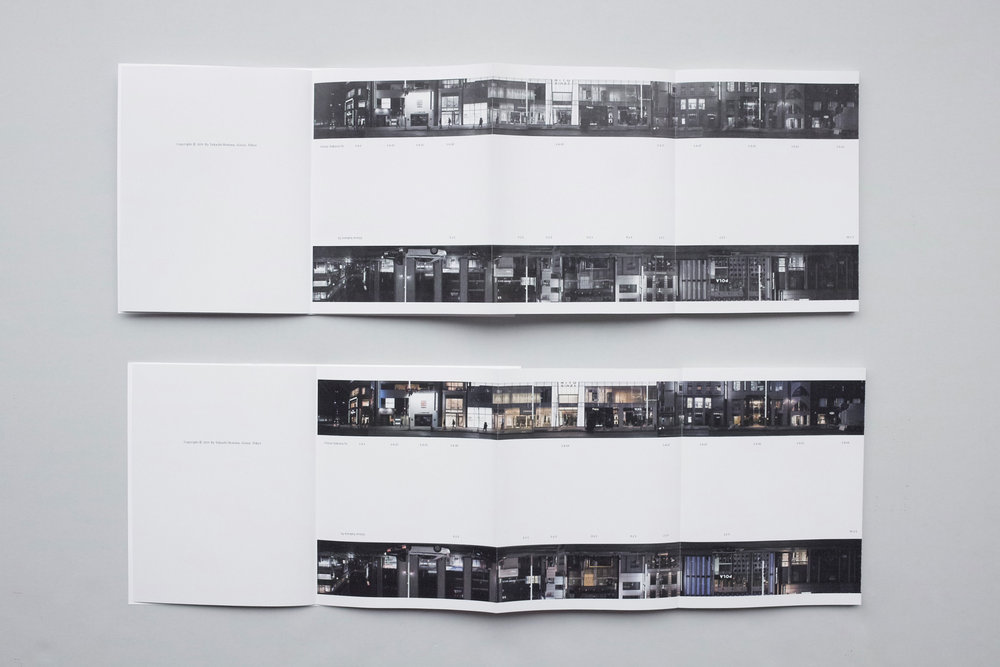 上 [Every Building on the Ginza Street] 通常版(白黒図版) 下 [Every Building on the Ginza Street] 豪華版(カラー図版)100部限定