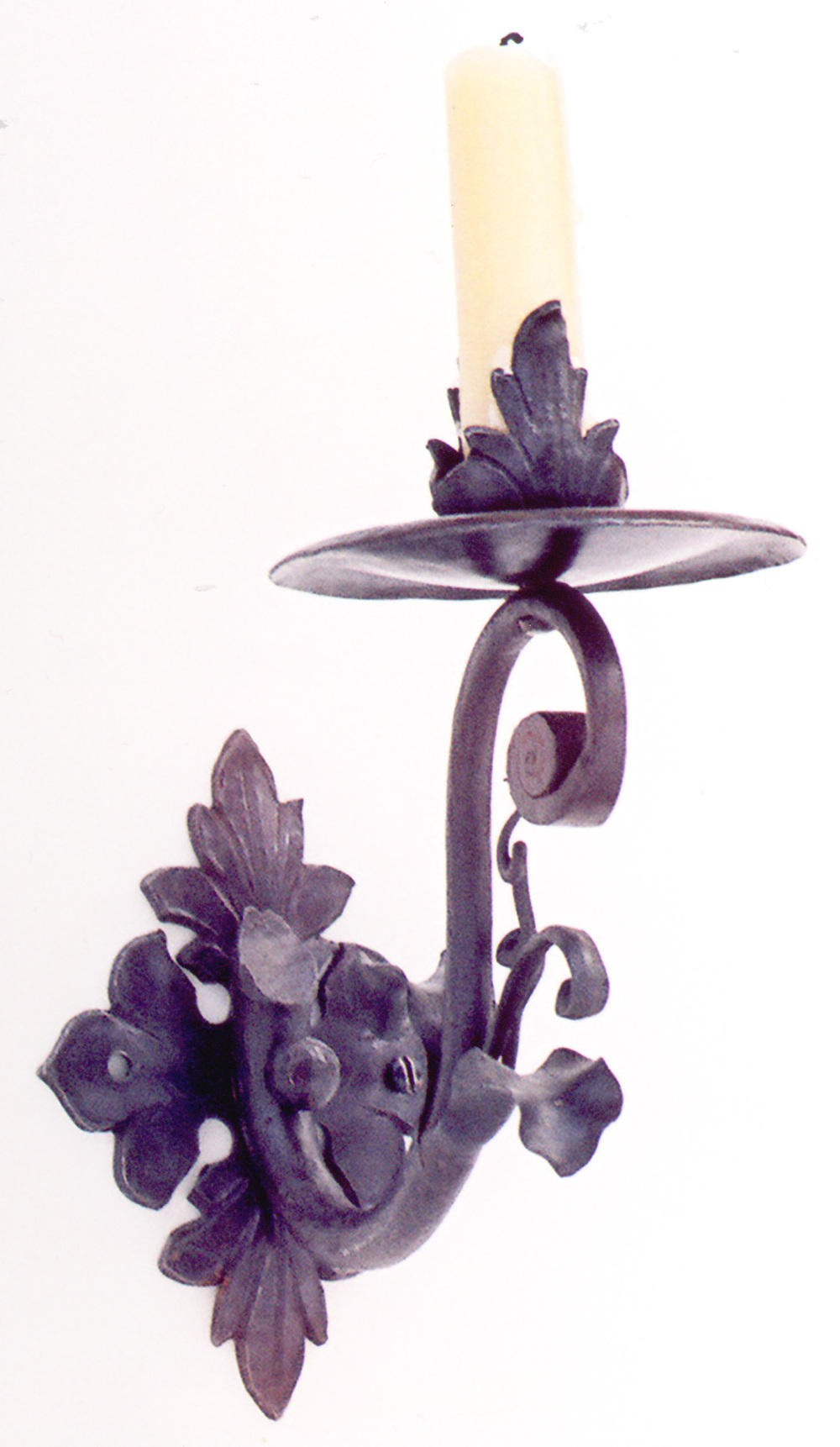 18th century style candle sconce by Dan Roesinger of Stark Ravens Studios