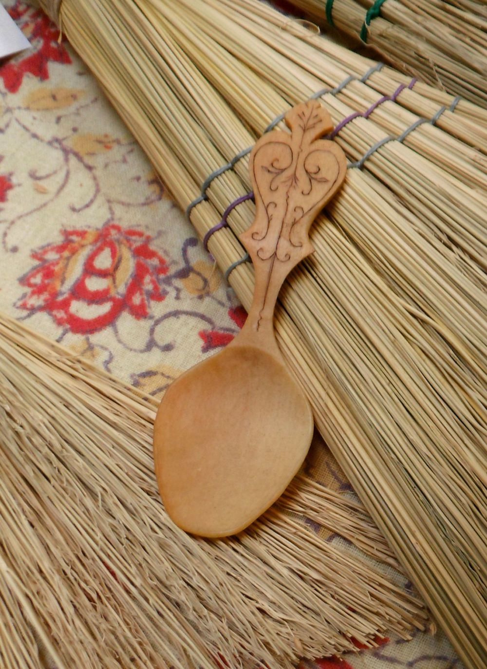 One of Dan's spoons and detail shot of Saga's whisk brooms