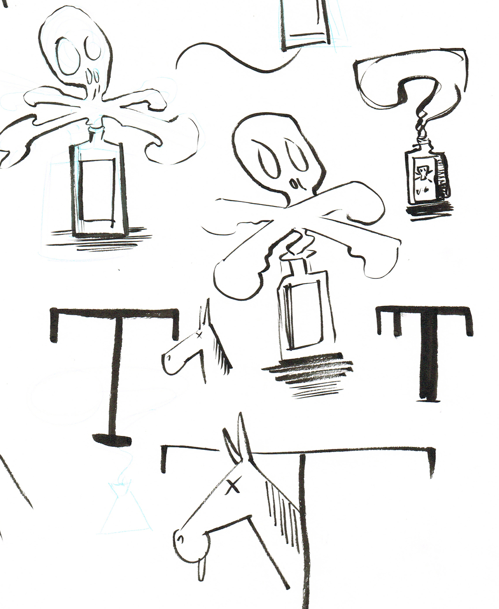 Sketches for a recent Graphic Principles assignment.