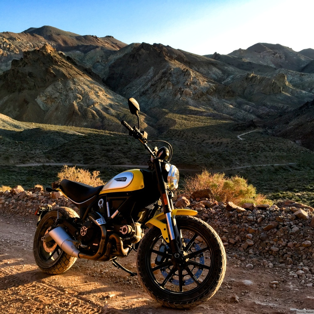 The Wild West on a Scrambler
