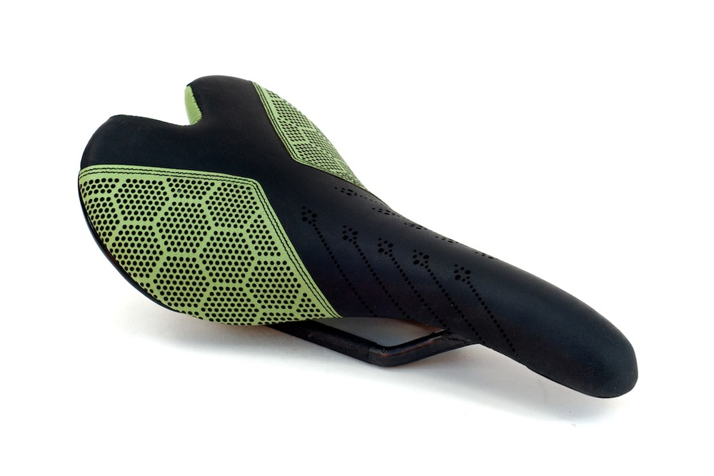 Custom-leather-honeycomb-lime-cannondale-pro-green-black-carbonfiber-Fizik-Aliante-carbon-lightweight-leather-recover-repaired-upholstered-custom-motorcycle seat 5.jpg