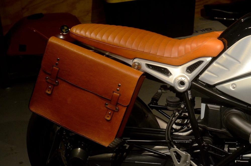 Revival-BMW-RNineT custom bull hide saddlebag custom leather seat honey leather grips bag hand made austin texas leh seats- carson leh 7.jpg