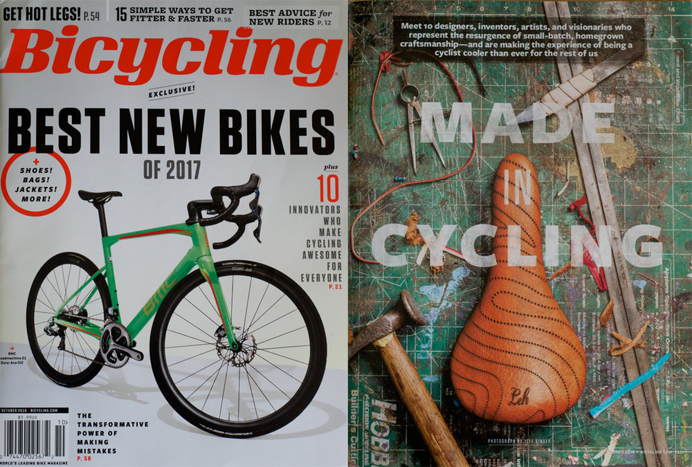 "Leh Cycling Goods is featured in Bicycling Magazine's October issue in the ""Made in Cycling"" article. Read Full Text"