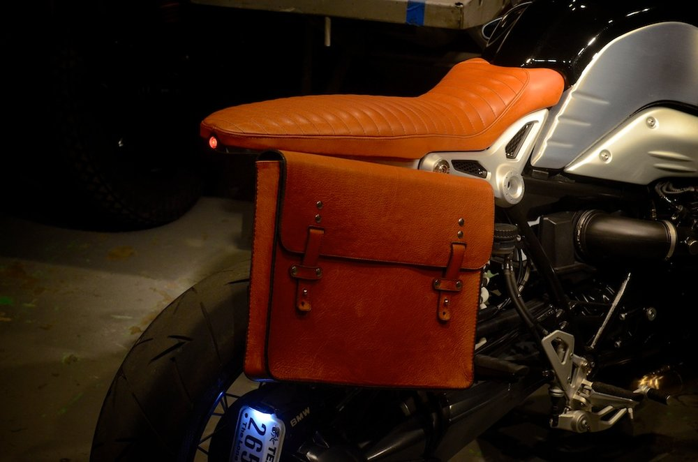 Revival-BMW-RNineT custom bull hide saddlebag custom leather seat honey leather grips bag hand made austin texas leh seats- carson leh 3.jpg