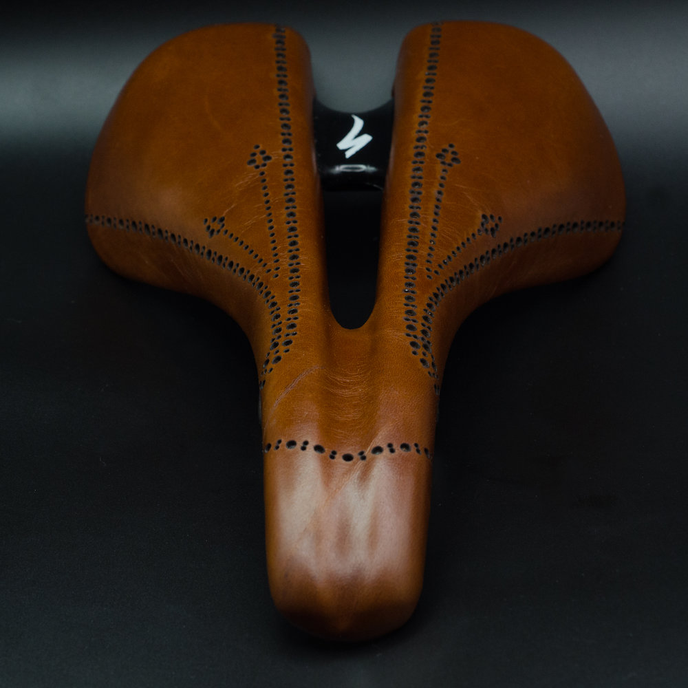 Leh Cycling goods custom leather saddles Fizik, selle italia,smp leather hand made usa austin texas brown black white -16.jpg