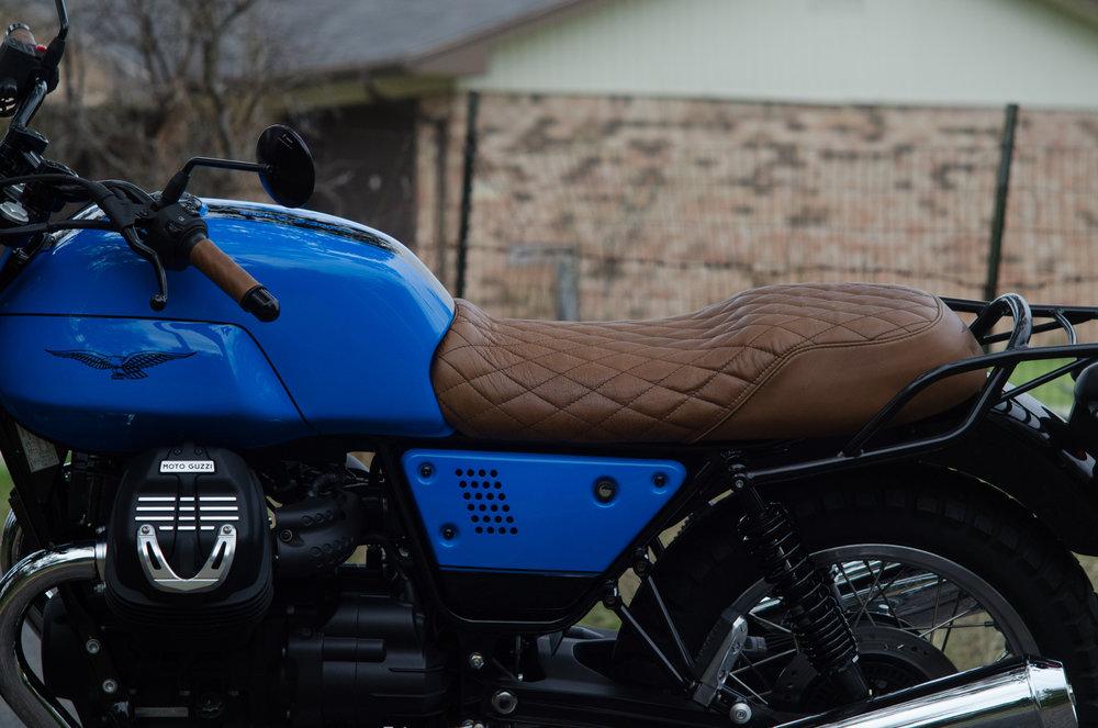 Obsidian Leather Goods Custom Moto Guzzi leather saddle with etched logo- custom- -11.jpg