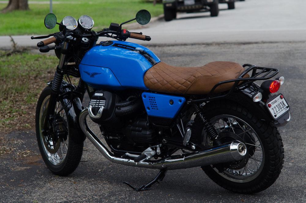 Obsidian Leather Goods Custom Moto Guzzi leather saddle with etched logo- custom- -7.jpg