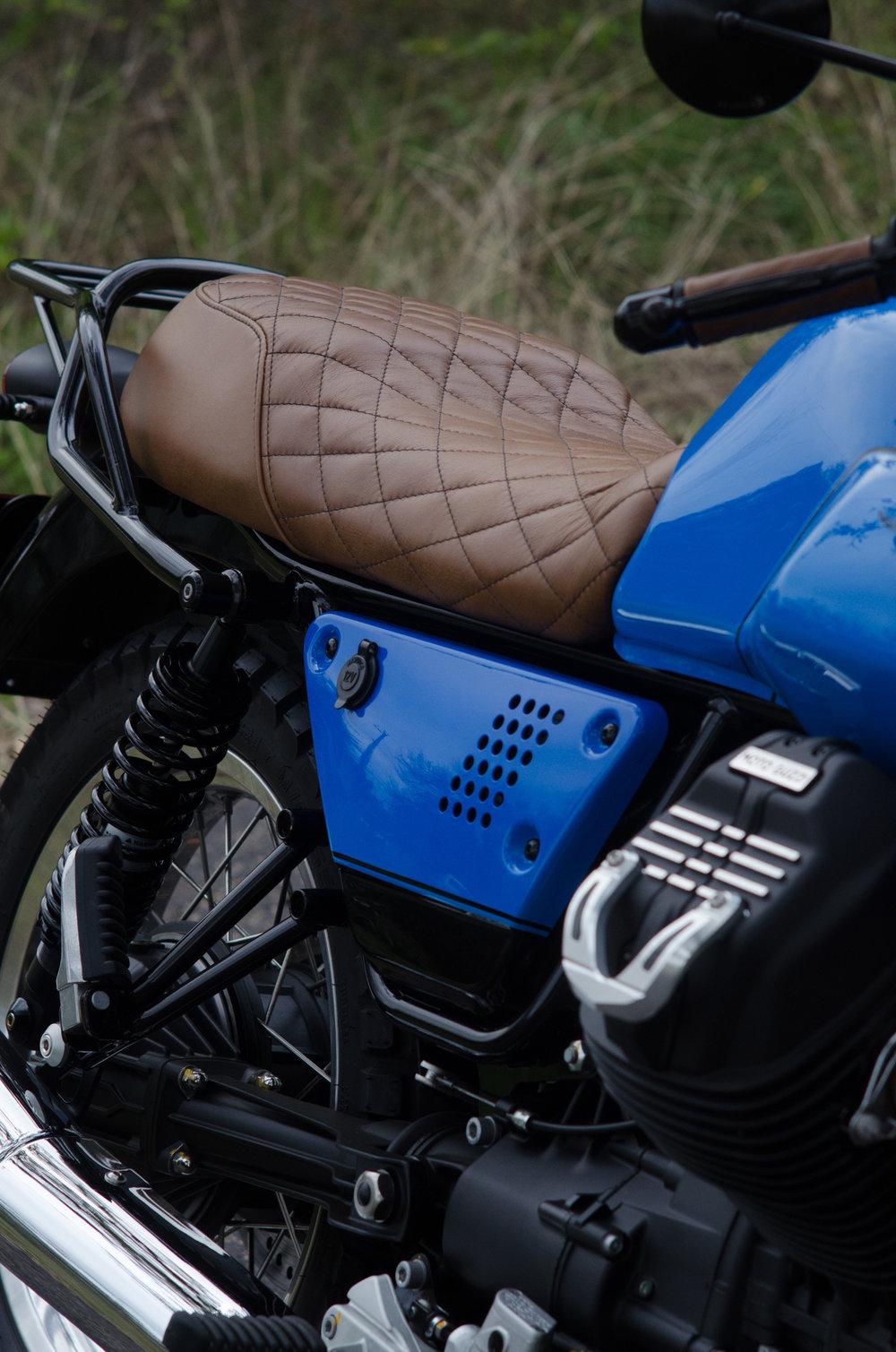 Obsidian Leather Goods Custom Moto Guzzi leather saddle with etched logo- custom- -6.jpg