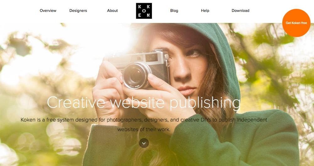 Koken was developed specifically for portfolio websites