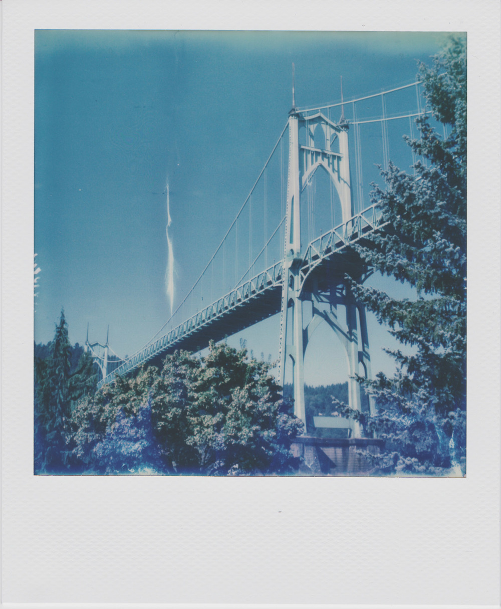 St. John's Bridge | Polaroid SX-70 | Impossible Project Film | Daniel Hedrick
