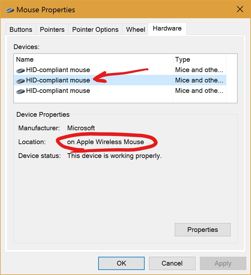 Windows 10 Additional mouse settings