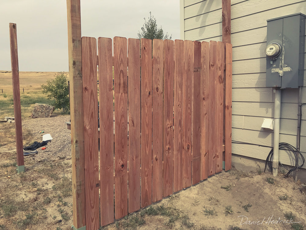 Started building a fence